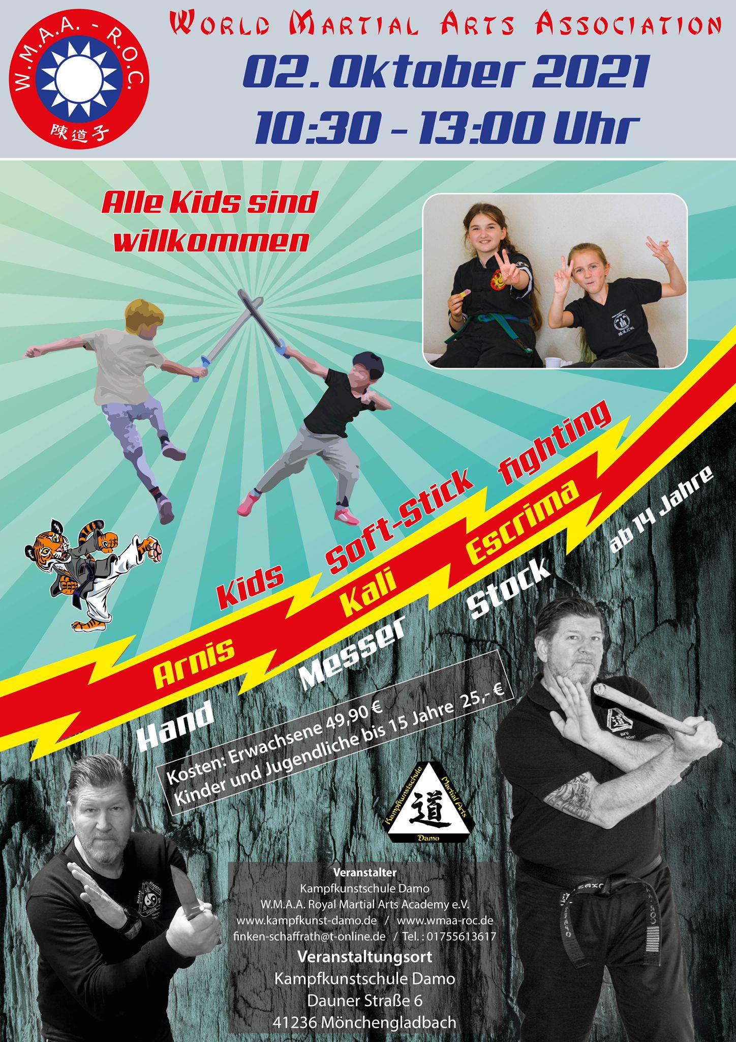 Arnis Lehrgang für Kinder und Erwachsene